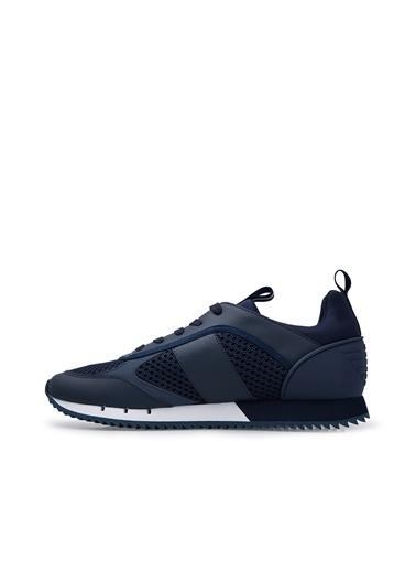 Emporio Armani  Marka Logolu Spor Ayakkabı Unısex Ayakkabı X8X027 Xk050 D813 Lacivert